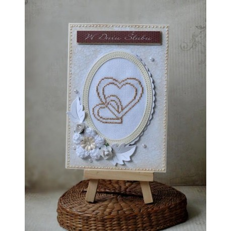 Kartka z sercami