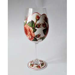 Kieliszek z różami