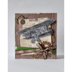 Kartka z samolotem