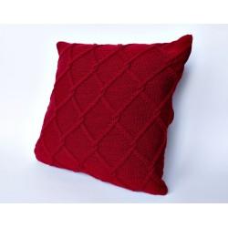 Poszewka na poduszkę bordowa