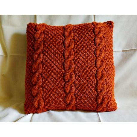 Poszewka na poduszkę ruda