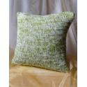 Poszewka na poduszkę zielono biała