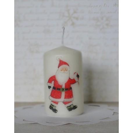 Świeca z Mikołajem