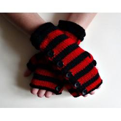 Miitenki czerwono czarne