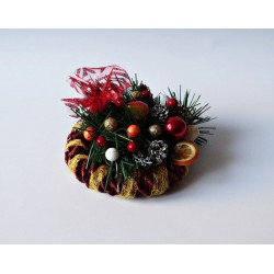 Stroik świąteczny z gruszką