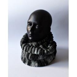 Szalik czarno szary