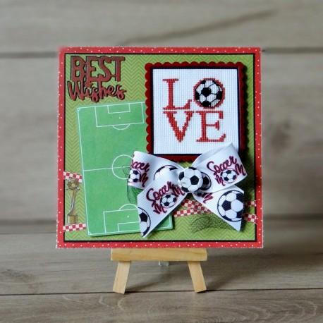Kartka z piłką nożną