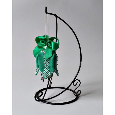 Dzwoneczek zielony z koralikami
