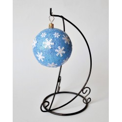 Bombka niebieska z gwiazdkami