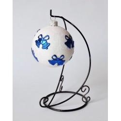 Bombka biała z dzwoneczkami