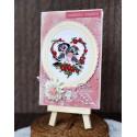 Kartka na Walentynki z ptaszkami