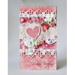 Kartka urodzinowa różowa
