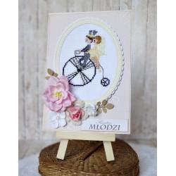 Kartka z rowerem