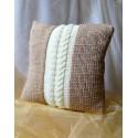 Poszewka na poduszkę beżowo kremowa