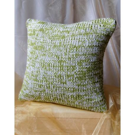 Pszewka na poduszkę zielono biała