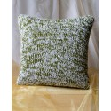 Poszewka na poduszkę zielono biała 2